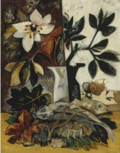 Still Life with Flowers and Fish Natalia Gontcharova