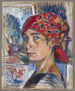 Natalia Gontcharova Self Portrait-Mead-Amherst