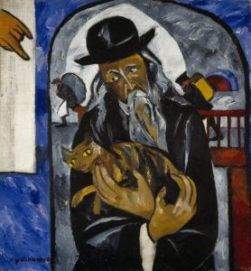 Natalia Goncharova Rabbi with Cat