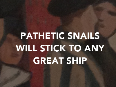 Natalia Gontcharova Pathetic Snails will Stick to any Great Ship